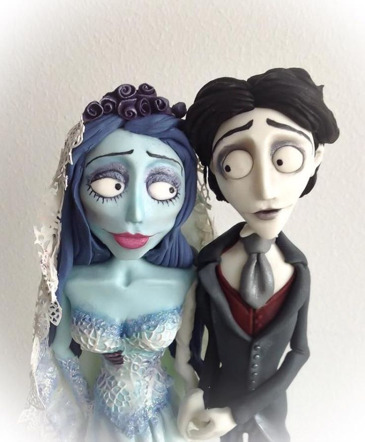 Corpse Bride Cake Topper by Mnhammy by Sofia Salvador…