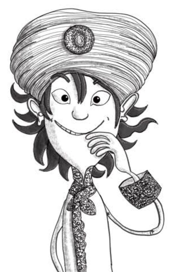 Aladdin: From 'Aladdin and his Wonderful Lamp', Book 2 of the Arabian Nights Adventures series published by Harpendore. Stories retold by Kelley Townley. Illustrations by Anja Gram. Copyright © Harpendore Publishing.