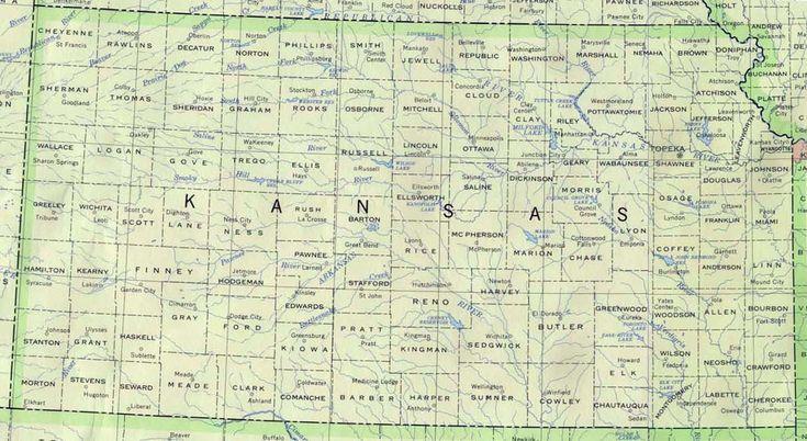 Kansas map   Base Kansas Map