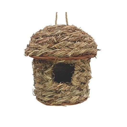 Nido Exterior Hierva Huerto LIVING WORLD - #FaunAnimal Nidos de exteriores para pájaros silvestres está diseñado específicamente para proporcionar las aves silvestres con un refugio seguro para el descanso y cría.