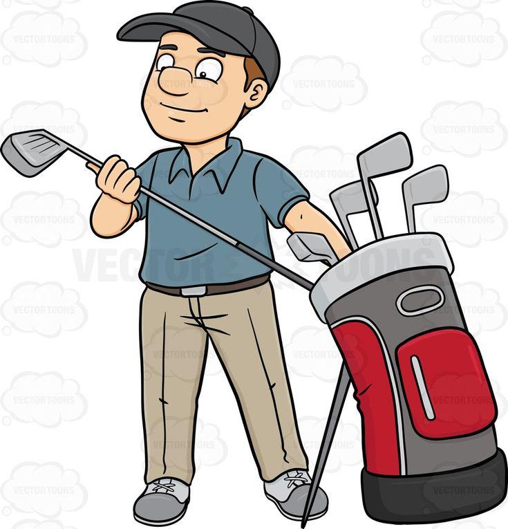A Golfer Inspecting His Golf Club | Sport, Fodbold