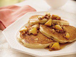 Praline Peach Pancakes | Yummy! | Pinterest
