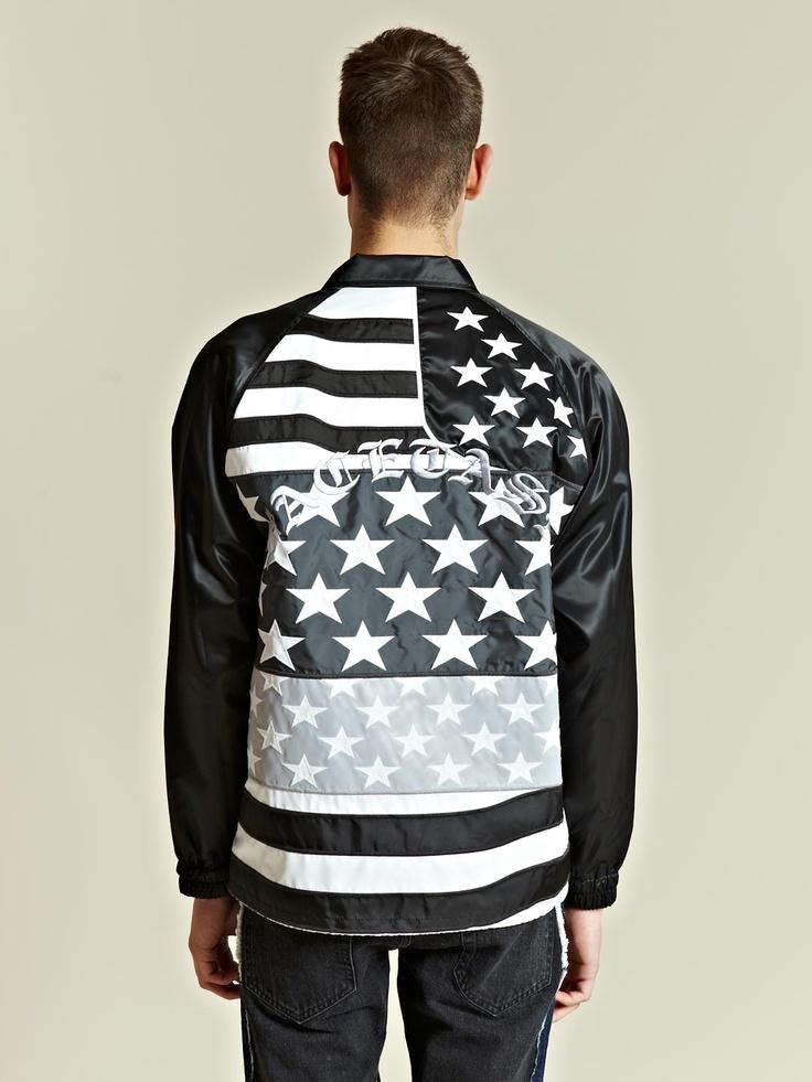 Facetasm Men's Stars and Stripes Jacket