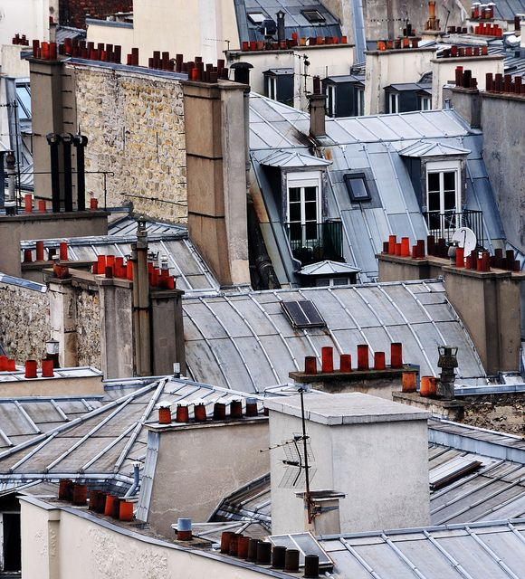 Visual inspiration for Connie....Paris Rooftops by chlook, via Flickr