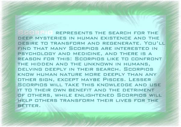 Interesting Free Scorpio Horoscope
