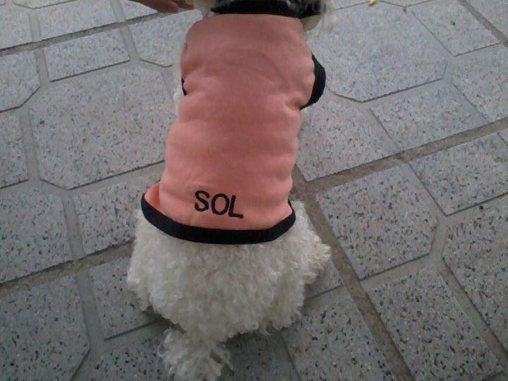 Sol, de Sampacho, con remerita bordada con su nombre