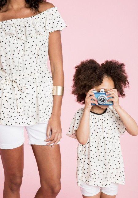 Envie de Fraise // Blousedots - Girl's Blouse ♡ #EnviedeFraise #FamilyCollection #White&Black
