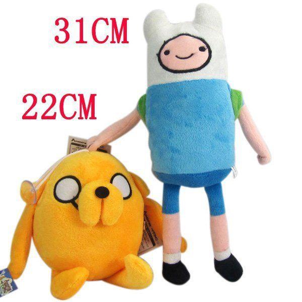 Аниме Приключения Время Финн Джейк Плюшевые Куклы 11 дюймов мягкий рис. игрушки мягкие игрушки Movice Мультфильм Игрушки Аниме плюшевые 2 компл. Много