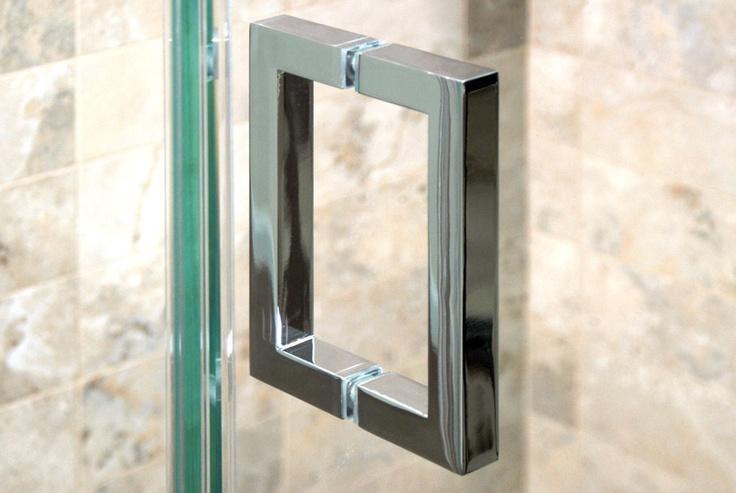 Chrome Square Shower Door Handle Hardware Shower Door