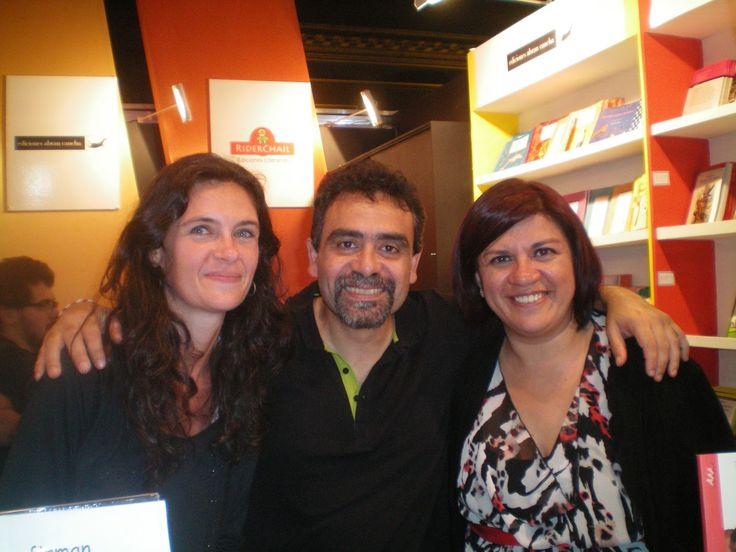 Carolina Tosi, Mario Méndez y Laura Ávila. Feria del libro 2013.