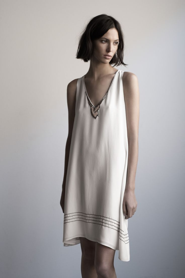 Matte Silk Shift Dress, Graham & Spencer Spring 2013