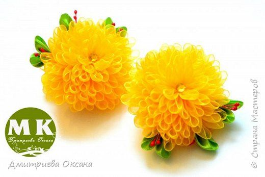 Как сделать хризантемы из ткани