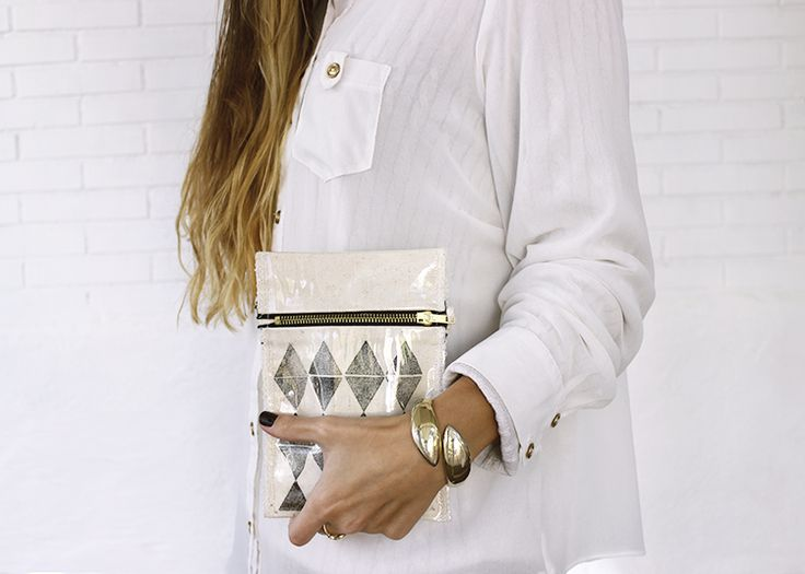 BLANK CANVAS www.etsy.com/people/blankcanvasshop bag - handbag - makeup bag - fabric - plastic bag - hand made - women - #clutch