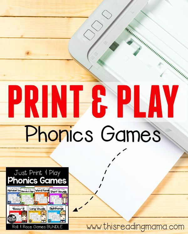 Print and Play Phonics Games – makes differentiation a BREEZE!