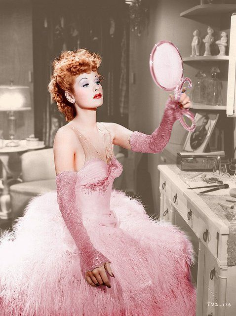 Lucille Ball pretty in pink...