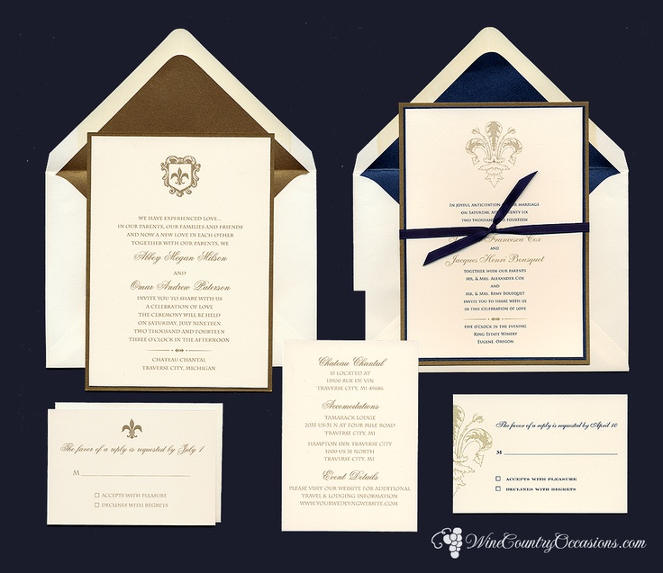 Exceptional Fleur De Lis Wedding Invitations