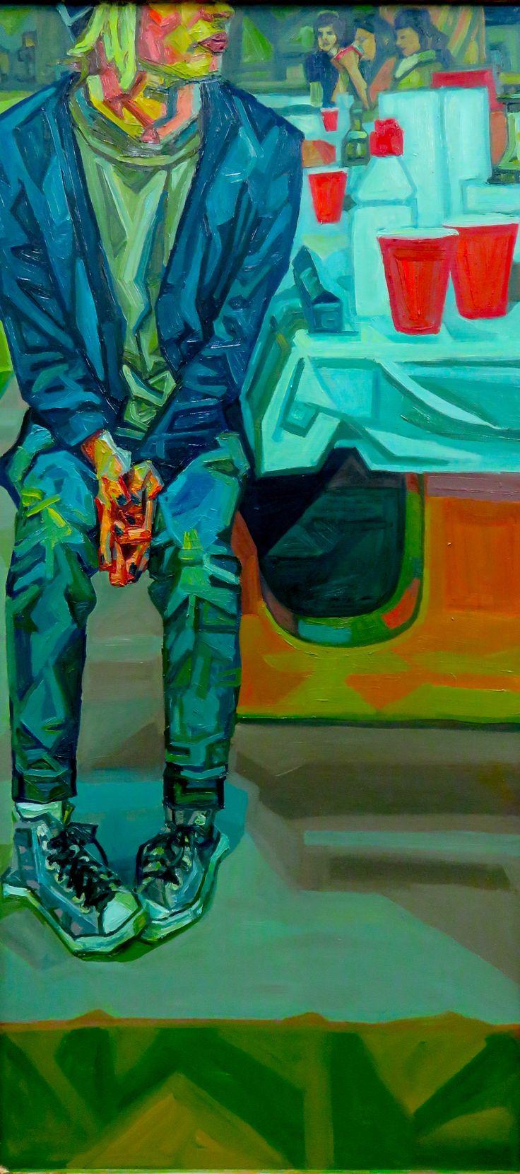 party prison #oilpainting #painting #cubism #figure #color #shapes