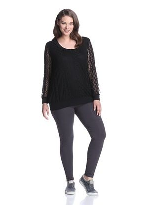 Pink Lotus Women's Lace Pullover