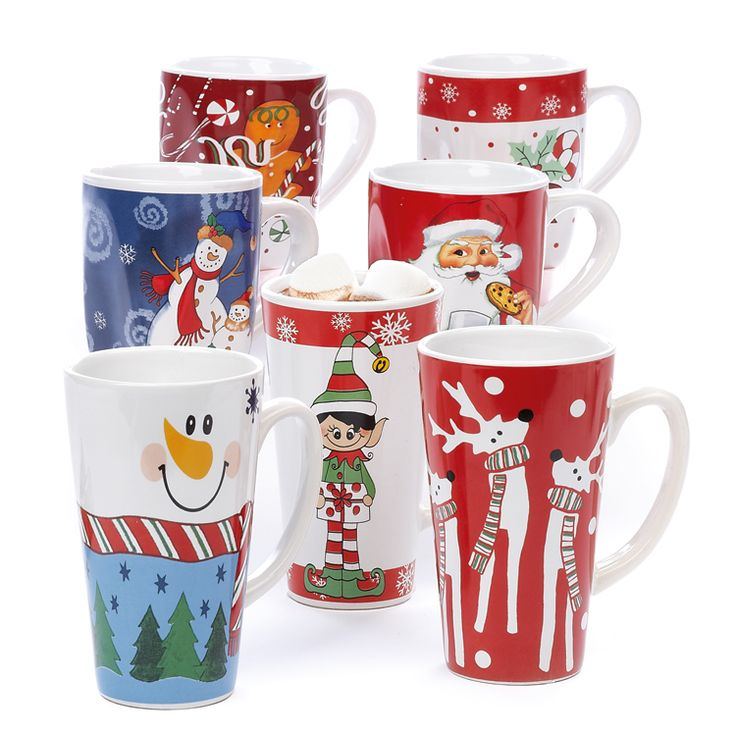 Jumbo Christmas Mugs, Enjoy a cup of your favorite coffee or tea in one of our Christmas Mugs.  Visit your local Old Time Pottery for a full...