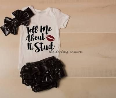 Tell me about it Stud infant girl bodysuit, baby girl bodysuit, infant outfit, newborn outfit, grease inspired, sandra dee, pink ladies
