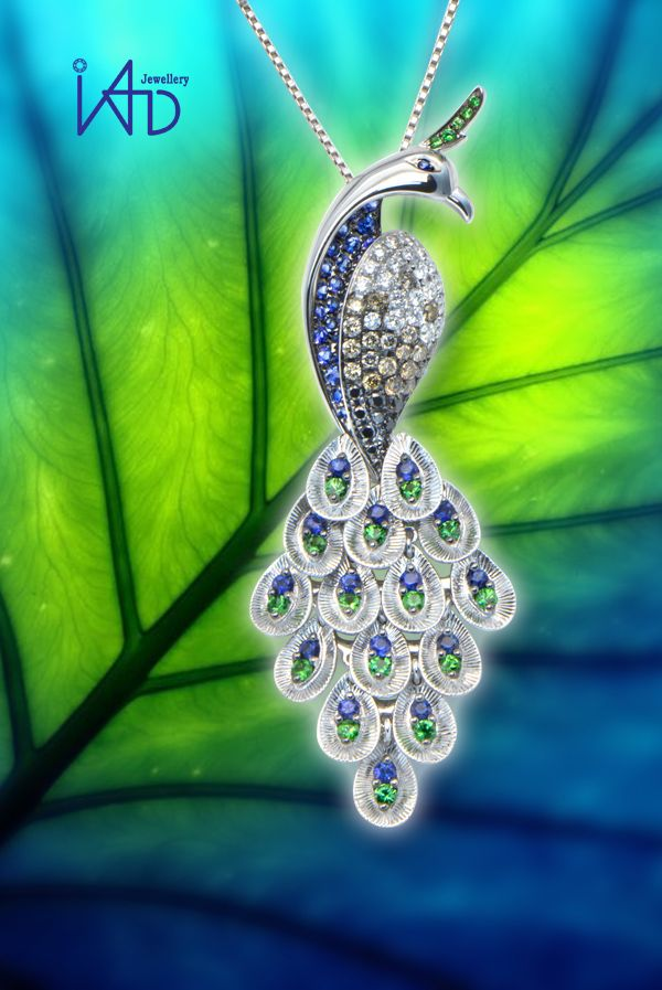 Peacock are a timeless symbol of glamour and romance.  #iadjewellery #iad