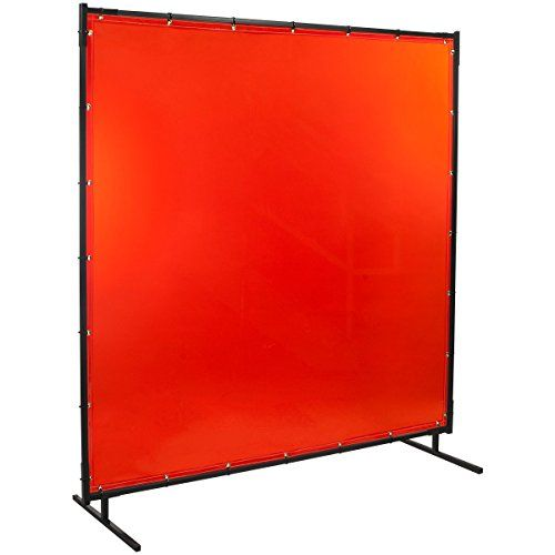 Steiner Protect-O-Screen Classic Welding Screen with Flame Retardant 14 mm Orange Tinted Transparent Vinyl Curtain #DIY