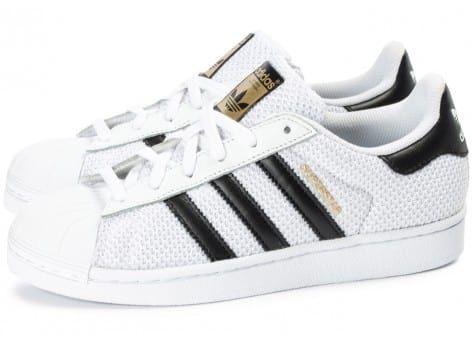 Chaussures adidas Superstar Nylon Junior blanche vue extérieure