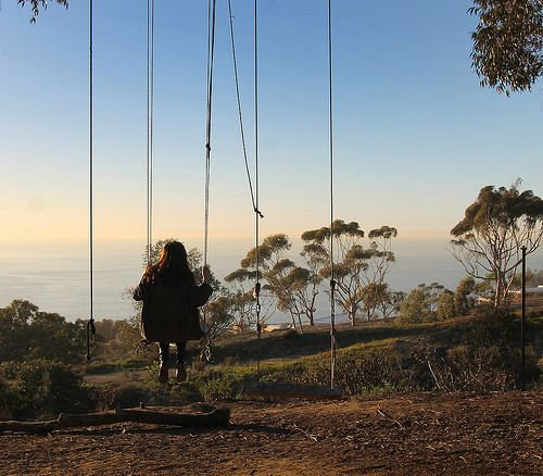 Secret Swings - La Jolla, CA click for how to find them. Perched on a hill overlooking the Pacific Ocean is a hidden spot perfect for couples and families -- call it a romantic mystery in the woods. Two swings are hidden on the vast University of California, San Diego campus.