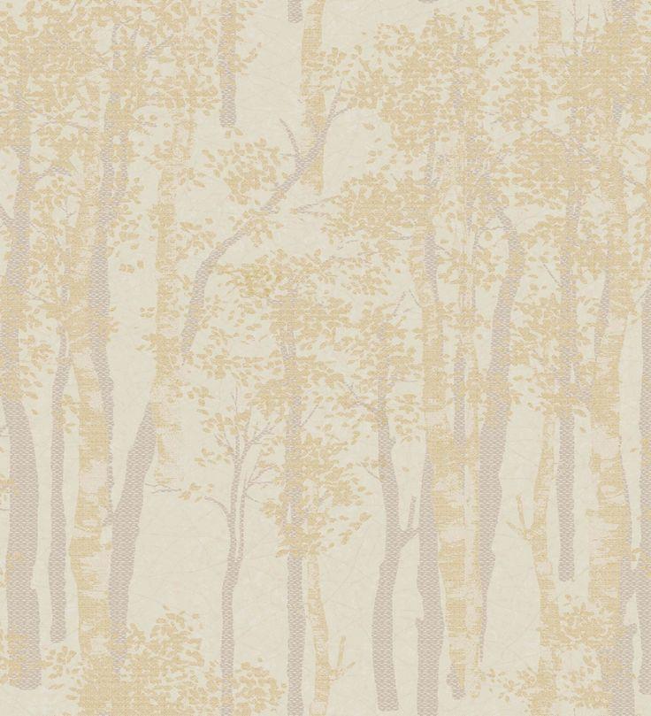 Papel pintado árboles difuminados oro - 2009503