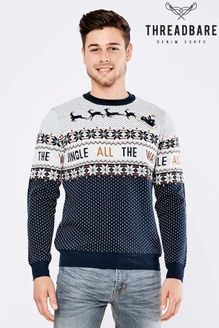 Threadbare Novelty Christmas Jumper With Lights