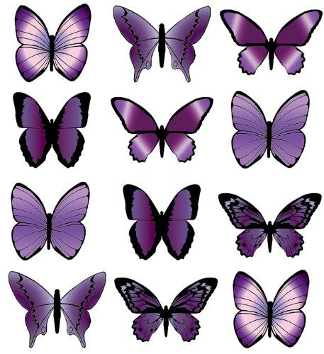 Butterfly Wafers Cake Decoration : 22 best Butterfly images on Pinterest