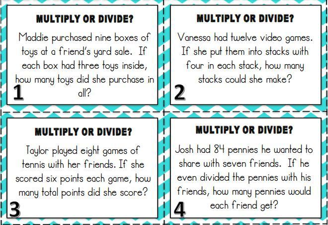 Multiplication and Division Word Problems | Word problems ...