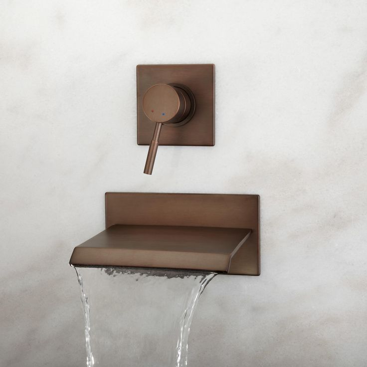 Lavelle Wall-Mount Waterfall Tub Faucet - Tub Faucets - Bathroom
