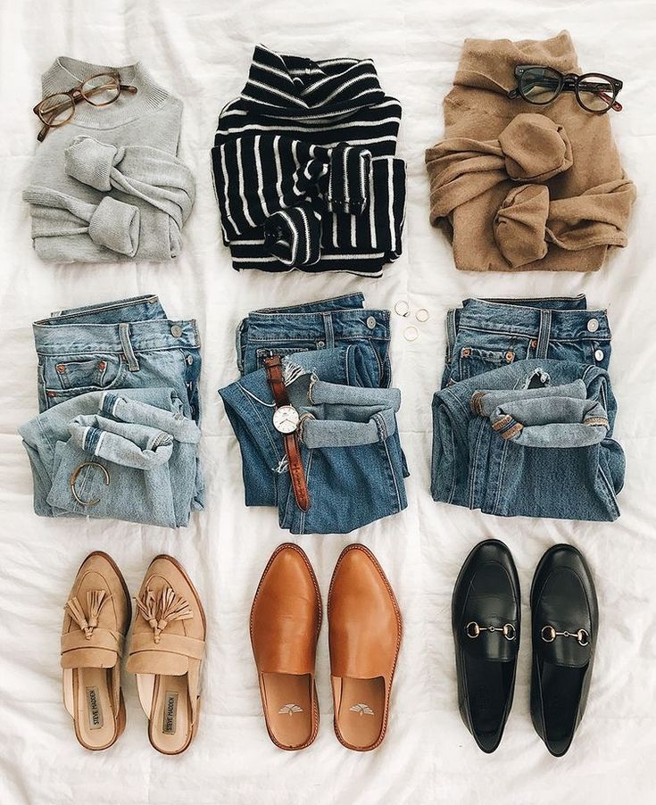 sweaters + jeans + loafers – #chemise #Jeans #loaf…