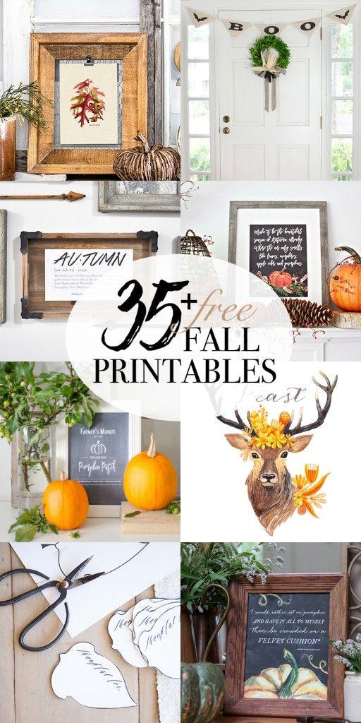 Woodland Watercolors + 35 Free Fall Printables