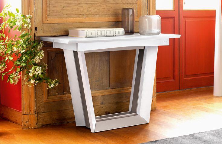 Console extensible Collection Setis   Fabricant de meubles Gautier #console #table #tableblanche #gautier #gautierfrance #madeinfrance #meublesgautier #salon #salleàmanger #diningroom #livingroom #gautierfurniture