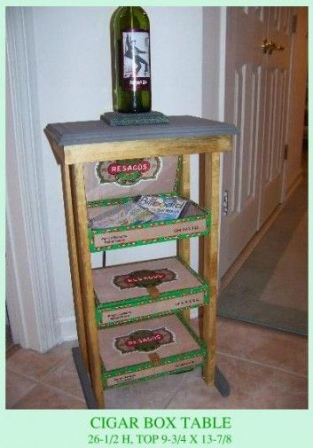 Cigar Box Table