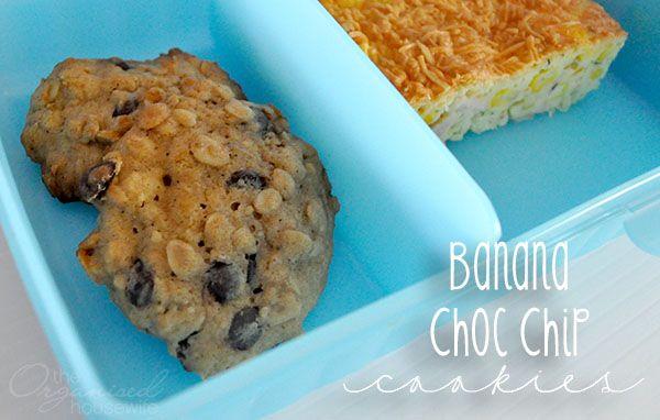 Banana Choc Chip Cookies