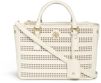 Tory Burch 'Robinson' micro perforated saffiano leather tote #1010ParkPlace