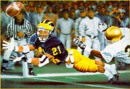 Desmond Howard Michigan   Michigan Wolverines Desmond Howard Football Sports Art Print
