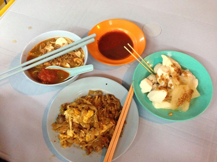Kimberley Street supper. Char kway teow, yong tau foo and prawn noodles - the staples in any Penang meal