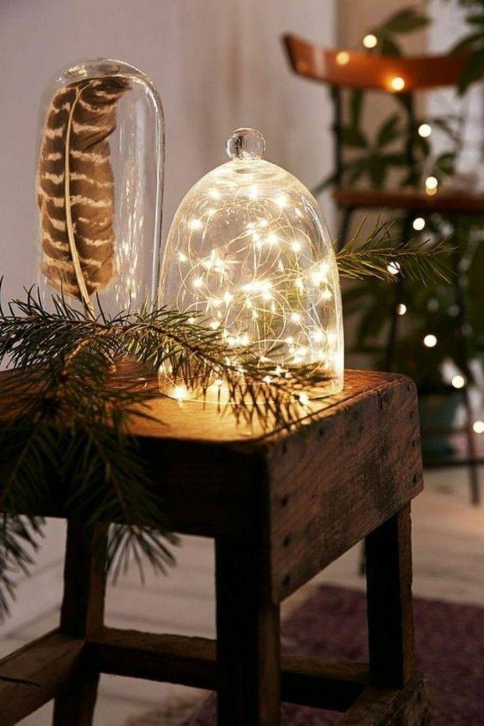 weihnachtendekoration selber machen weihnachtsdeko ideen glaser mit lampen