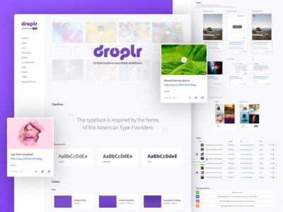 Droplr UI Style Guide (ligh version)