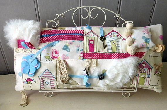Fidget Fiddle Cushion/Mat - Alzheimer's Dementia Autism Gift - Adults Sensory Activity Pillow Quiet Sensing - Ideal Christmas Gift