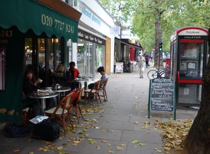 A street scene in Holland Park Avenue.