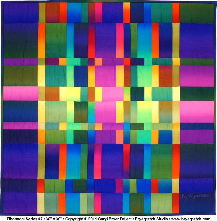 Fibonacci Series #7  by Caryl Bryer Fallert