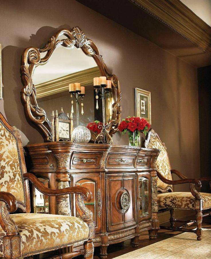 AICO Furniture Villa Valencia Sideboard & Mirror 72007