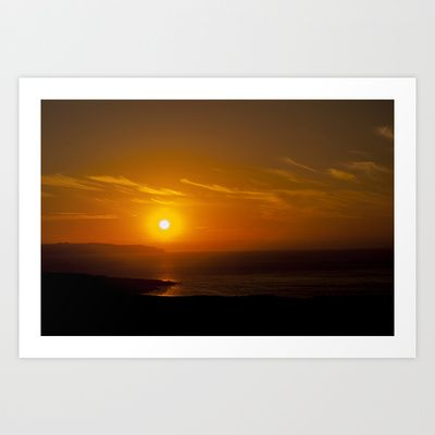 Beyond the sun Art Print by Oscar Tello Muñoz - $19.00