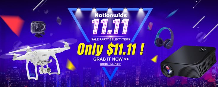 11.11 Nationwide Sale Party, from Tomtop