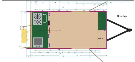 General Floorplan Teardrop Trailer Pinterest Plans And